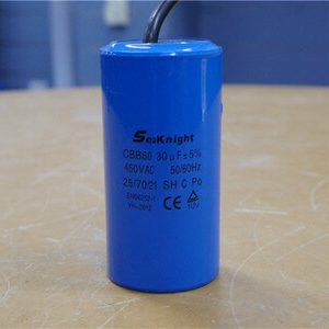 quality aluminium starting capacitor 250VAC 75uF Motor engine Capacitor