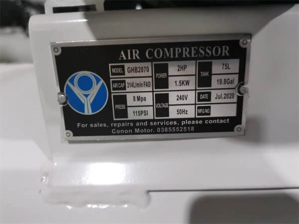 Conon Motor PISTON AIR COMPRESSOR